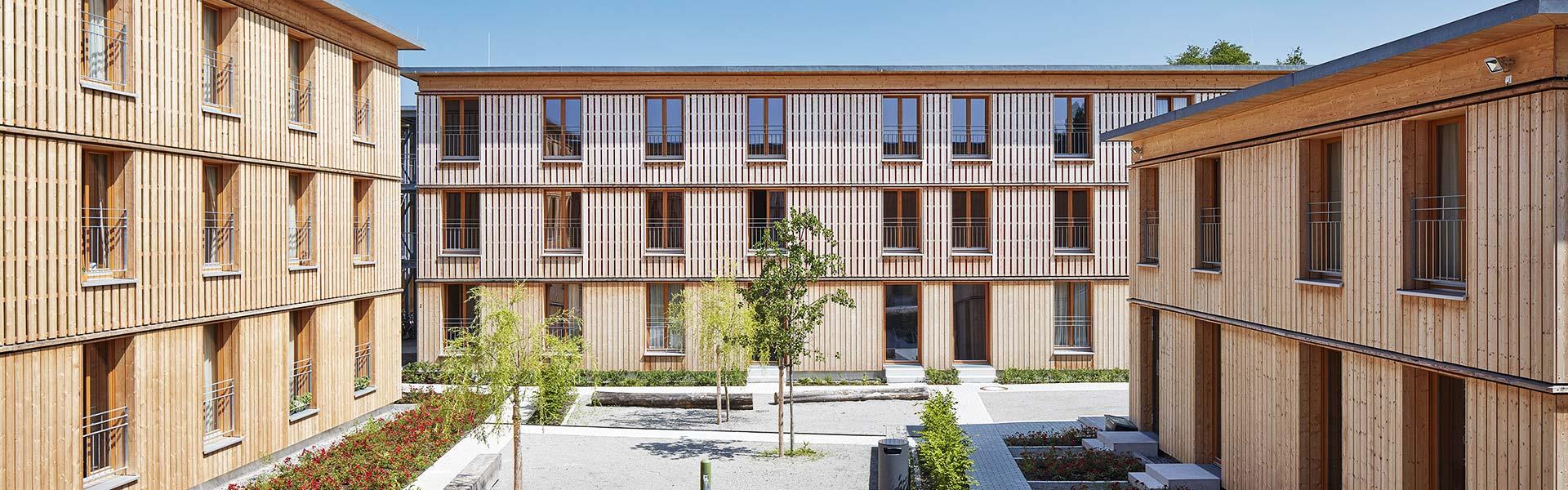 SCHWARZWALD CLT - Ansicht Holzgebäudekomplex